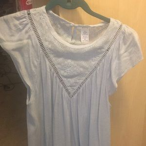 Esley Beautiful Light Blue Cotton Top